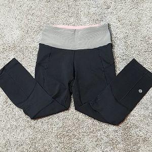 Lululemon Black Wonder Under Capri Leggings